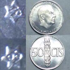 Lote 10 Monedas De 50 Centimos De PESETA 1966 *69 1969 S/C España Spain