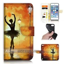 ( For iPod Touch 6 ) Wallet Flip Case Cover AJ21477 Ballet Girl