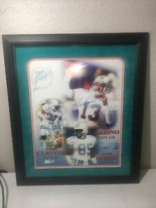 Framed Miami Dolphins - Dan Marino, Mark Duper, Mark Clayton Autographed Photo