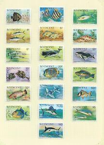 St Vincent 1975 Marine Life set mint