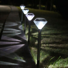 12X SOLAR POWERED OUTDOOR GARDEN POST GROUND STICK STAKE PATIO PATHWAY LED LIGHT