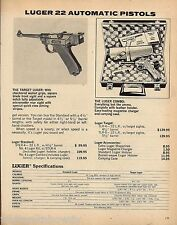 1979 Luger Target .22 Automatic Pistol Ad Vintage Advertising