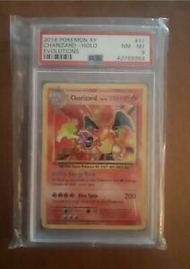 PSA 8 Pokemon Charizard XY Evolutions  11/108 Holo Card 2016 Base Set Art
