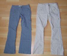 Lot of 2 Aeropostale Women's Jeans 3/4 Short Khaki and Grey