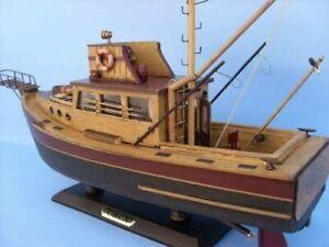 "Hampton Nautical ""Jaws"" Orca Model Fishing Boat - Fully Assembled"