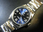 ALPHA EXPLORER 36MM BLUE DIAL AUTOMATIC WATCH *UK SELLER* *FREE DELIVERY*