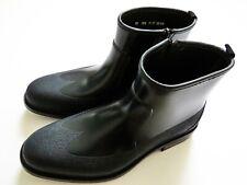 SALVATORE FERRAGAMO Navy Blue Rubber Zip Up Rain Boots Size 11 US 45 Euro 10 UK