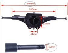 """Mountainboard Truck, Off Road, 17"""", Twin Spring, 12mm axle, YAK, with riser"""