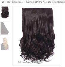 RRP 20 KOKO Hair Clip in Extensions Coffee Brown Dark Brunette Curly 20 Inch