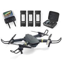 E58 2.4GHz RC Drone FPV Wifi 4K HD Camera Foldable Quadcopter + 3 Battery RC1234