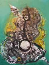 Acrylic Collage on Canvas - Dreamer, Framed