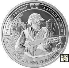 2019 'The Battle of the Scheldt-Battlefront' Prf $20 Fine Silver 1oz.Coin(18795)