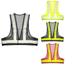 Work Wear Reflective Vest Safety Tops Day Night Mesh Fabric Protective Gear