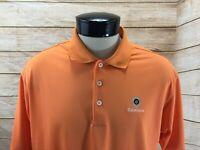 Adidas Golf Polo Shirt Men's L Orange Coldstream Golf Club CLIMALITE