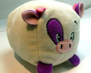 "4"" small Plush soft squishy gray purple COW bull"