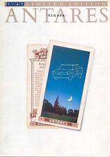 Fiat Regata Antares 70 85 Limited Edition 1988 UK original UK Sales Brochure