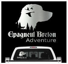 Auto Aufkleber Epagneul Breton Adventure Hundemotiv Jagd Folie Jagdmotiv Hund