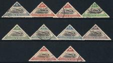 MOZAMBIQUE COMPANY - 1935 TRIANGULAR AIRS SET USED