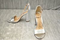 **Sam Edelman Yaro Ankle Strap Sandals, Women's Size 9.5W, Silver