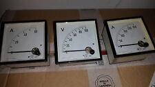 amperometro e volmetro da pannello siemens anno 1962 perfetti