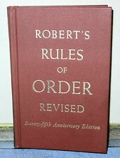 Vintage Book - ROBERT'S RULES OF ORDER REVISED - 75th Anniversary Edition 1951