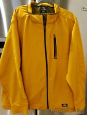 Dickies Men's WATER RESISTANT Soft-shell Storm Jacket Cheddar 3XL