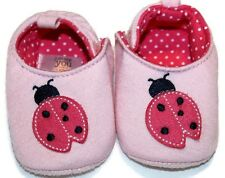 Gently Used Size 0 Just One You Baby Girl's Lady Bug Crib Shoes Pink
