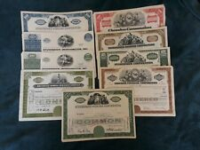 Mixed Lot of 47 Different Stock Certificates and Bonds, Various Industries