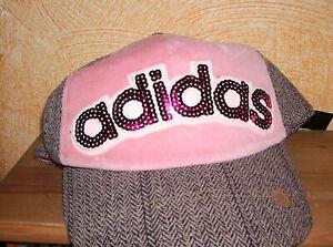 Adidas BASE-CAP mit Pailletten (B3) grau-rosa-pink  (A1)