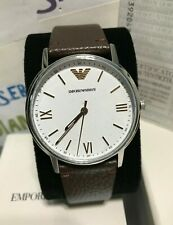 Emporio Armani Men's 41 mm Rose Gold Tone Brown Leather Watch! AR11173 BRAND NEW