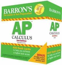 Barron's AP Calculus by David Bock (2014, Cards,Flash Cards, Revised)