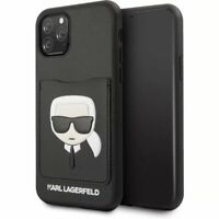 Genuine Karl Lagerfeld  Embossed Card Slot Impact Case for iPhone 11 Pro Max