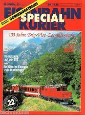 Eisenbahn Kurier EK Special Heft 22 100 Jahre Brig Visp Zermatt Bahn  (E3)