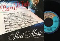 "BARRY WHITE sheet music/instrumental ULG 8563 italian 1987"" PS EX/EX"