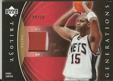 Vince Carter 2006 UD Trilogy Game Used Patch 44/50 #PRM-VC Nets