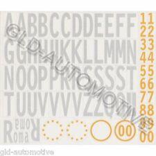 ADESIVI TARGA  Kit Set Lettere Numeri Bianco-Giallo 35mm Adesivo Auto Moto GAT