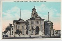 c1910 SAN DIEGO California Ca Postcard SAN DIEGO COUNTY COURT HOUSE