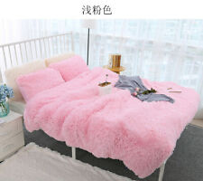 1.6*2M Long Shaggy Blanket Cozy Fluffy Faux Fur Sheet Super Soft Bedding Blanket
