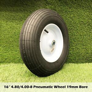"""16"""" 4.80/4.00-8 Wheelbarrow Trolley Wheel 19mm Bore Tyre Wheels Pneumatic Tyres"""