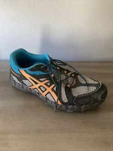 Asics Gel Fuji Trainer 3 Size 8 Mens Gray/Blk/Blue Comfort Running Shoes T416N