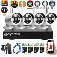 Eyedea HD 5000TVL 720P Wireless WIFI NVR 4CH Outdoor CCTV Security Camera System