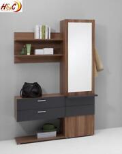 Wandgarderobe Garderobe Schrank mit Spiegel Mod.G122 Nussbaum Anthrazit