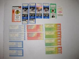 Lot of 14 Chicago Blackhawks Ticket Stubs 1979-1987 Red Wings Blues Flyers Leafs