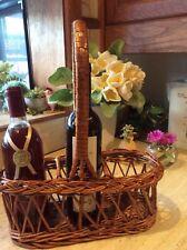 Vintage/Retro 1970's Woven Cane Wine Storage Basket