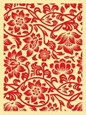 Obey Giant Floral Take Over Shepard Fairey  Urban Street Art Print Red Flowers