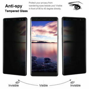 Privacy Tempered Glass Screen Protector For Samsung Galaxy Note S8 S9 S10 Plus M