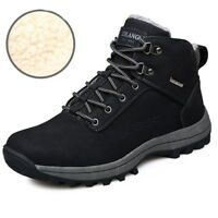 Mens Snow Boots Outdoor Winter Sneakers Warm Shoes Fur Inside Hiking Boots !