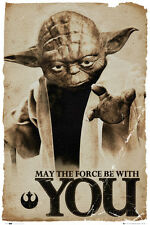 Star Wars Movie Yoda May The Force Be With You Poster Print 24x36