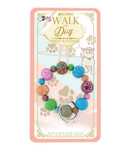 NEW JILZARAH Premium Handmade Clay Beads WALK THE DOG 20mm Wrist Keychain