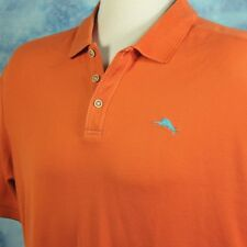 Tommy Bahama Mens XXL Polo Golf Shirt Orange Sail Fish Logo Cruise Resort NICE
